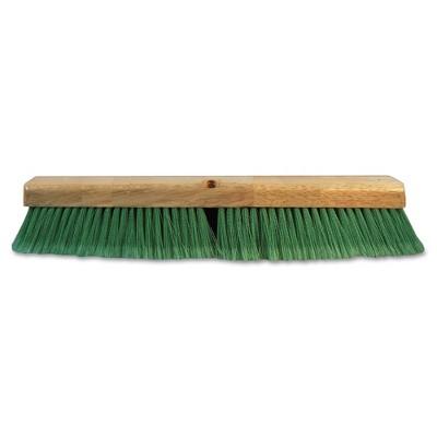 Boardwalk BWK20724 3 in. Flagged Recycled PET Plastic 24 in. Push Broom Head - Green