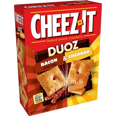Cheez-It Duoz Bacon & Cheddar Baked Snack Crackers 12.4oz - image 1 of 4