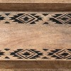 Etched Tribal Pattern Wood Decorative Storage Tray - Foreside Home & Garden - image 3 of 4
