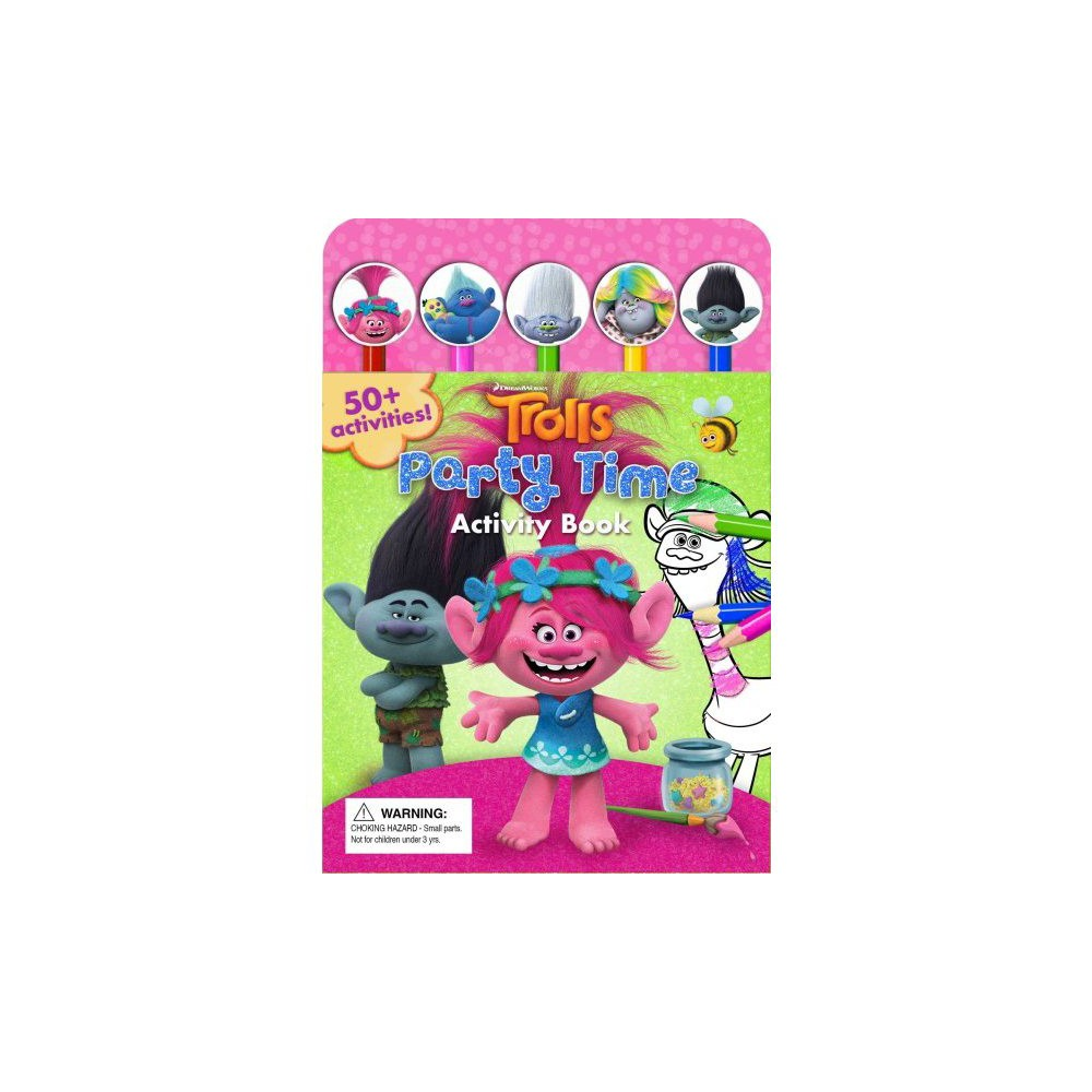 Dreamworks Trolls Snack Pack Activity Book - (Pencil Toppers) (Paperback)