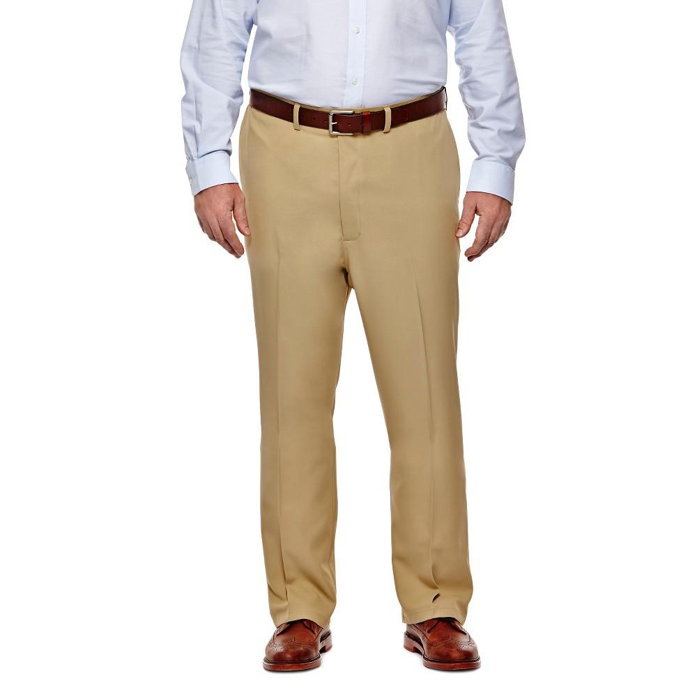 Haggar H26 - Men's Big & Tall Classic Fit Performance Pants Khaki (Green) 54x32