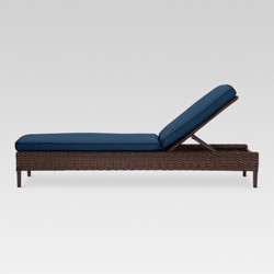 Halsted Wicker Patio Chaise Lounge - Navy - Threshold™