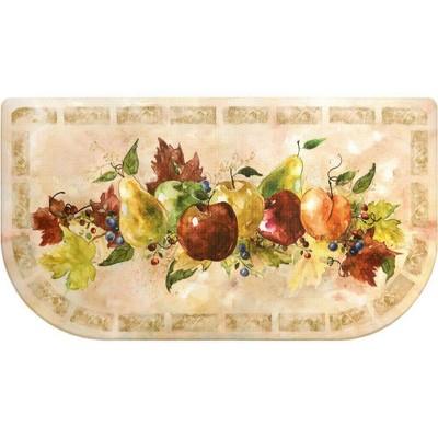 "Home Dynamix 19"" x 35"" Napa Fruit Slice Kitchen Mat Beige/Green"