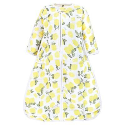 Hudson Baby Infant Girl Long Sleeve Muslin Sleeping Bag, Wearable Blanket, Sleep Sack, Lemons