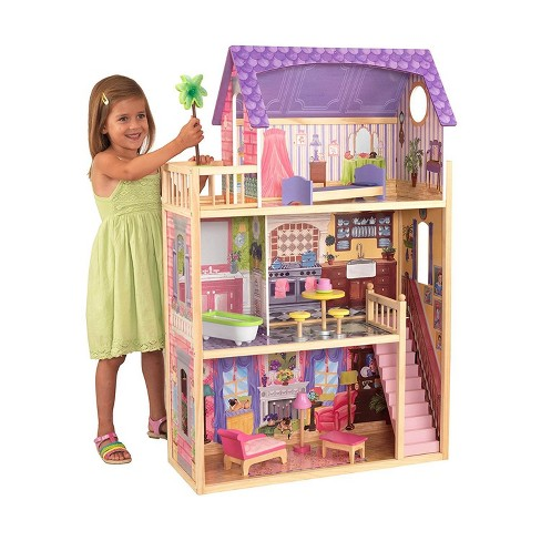 KidKraft Kayla Wooden Pretend Play Dollhouse with Furniture and Accessories - image 1 of 4