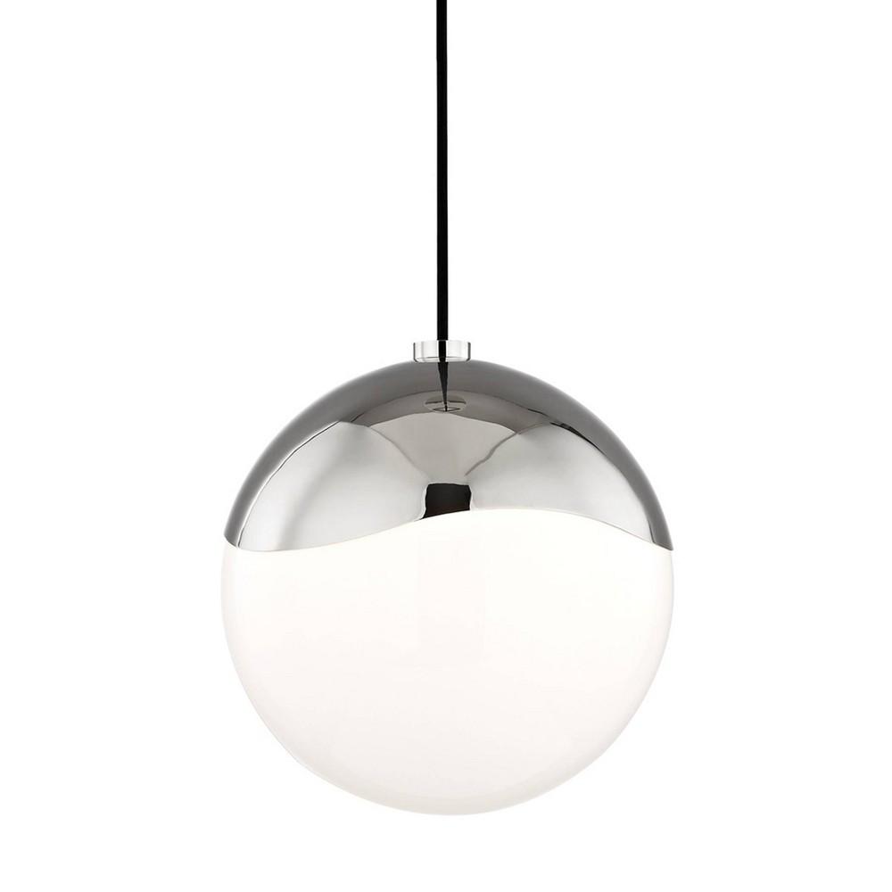 Ella 1-Light Large Pendant Chandelier Brushed Nickel - Mitzi by Hudson Valley Buy