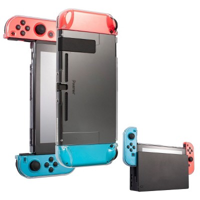 Insten 3-in-1 Dockable Case For Nintendo Switch Console, Joycon Controllers and Accessories - Detachable, Protective Hard Cover, Clear
