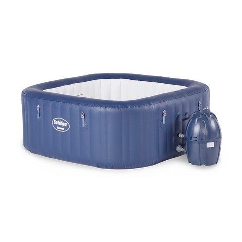 Bestway 60022E SaluSpa Hawaii 71-Inch x 26-Inch 6 Person Outdoor Inflatable Hot Tub Spa with Air Jets,  Pump, 2 Filter Cartridges, and Tub Cover, Navy - image 1 of 4