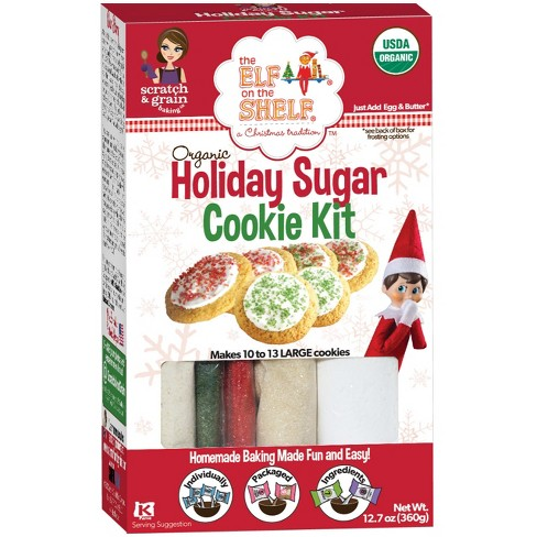 Christmas Cookie Decorating Kit.Scratch Grain Holiday Sugar Cookie Kit Made With Organic Ingredients 12 7 Oz