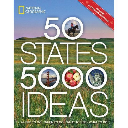 50 States 5,000 Ideas : Where to Go, When to Go, What to See, What to Do (Paperback) (Joe Yogerst) - image 1 of 1