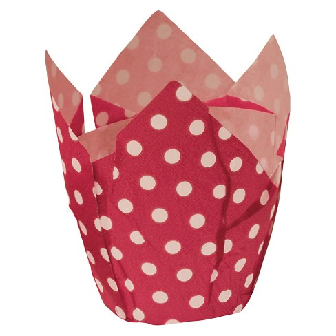 Tulip Baking Cups Set/24 Red Dot - image 1 of 1