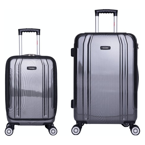 "InUSA SouthWorld 2pc Hardside Spinner Luggage Set 19""& 23"" - Dark Gray Carbon - image 1 of 5"