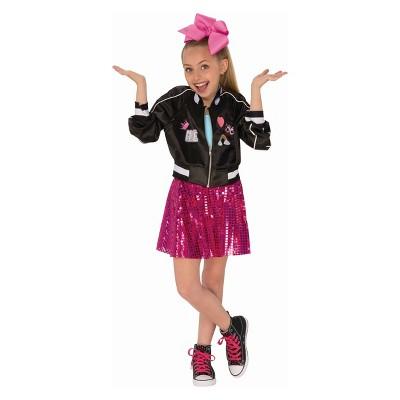 Girls' JoJo Siwa Jacket Halloween Costume Black M