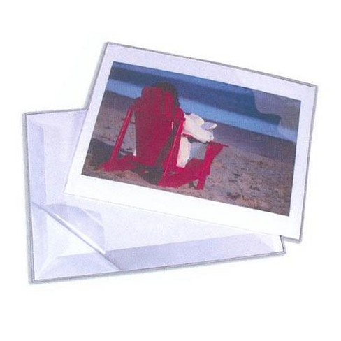 Lineco Self-Sealing Crystal Clear Mylar Polyester L-Velopes, 23x30 , Package of 5 - image 1 of 1