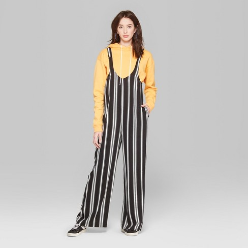 087bee9ee4 Women s Striped Strappy Scoop Neck Jumpsuit - Wild Fable™ Black White