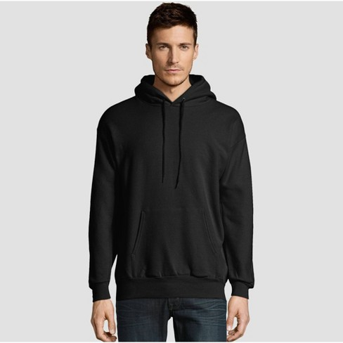 Hanes Men's EcoSmart Fleece Pullover Hooded Sweatshirt - Black L - image 1 of 3