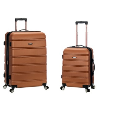 Rockland 2pc Expandable ABS Spinner Luggage Set - Brown