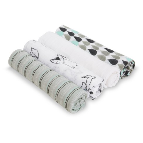 Aden® by Aden + Anais® Muslin Swaddles - Trotting Fox - Light Gray - image 1 of 3