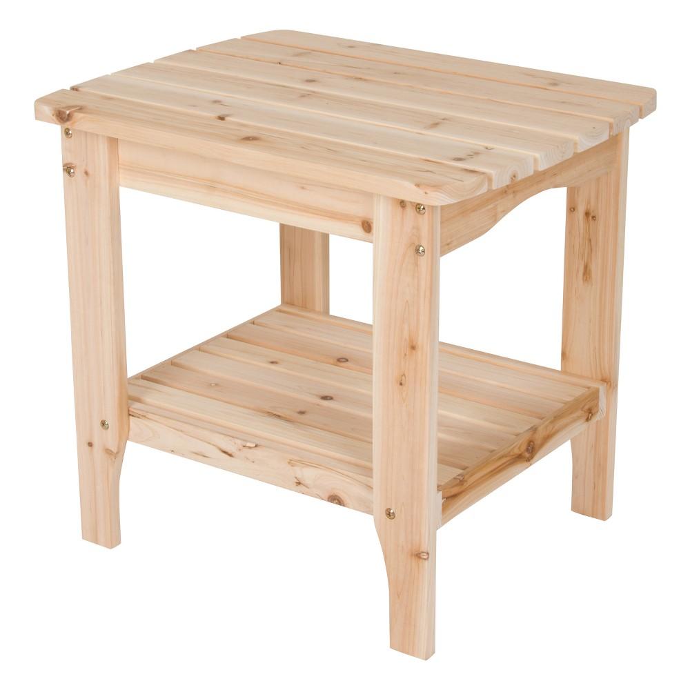 Rectangular Side Table Natural - Shine Company Inc.