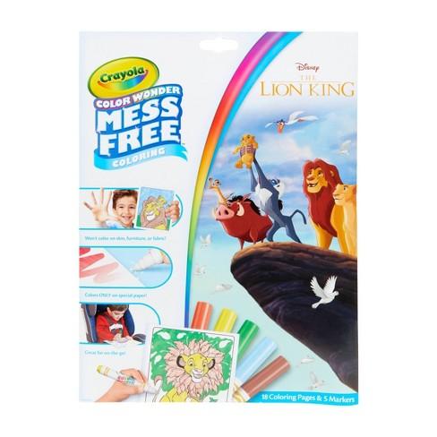 Crayola Color Wonder Foldalope Coloring Book - The Lion King - image 1 of 4
