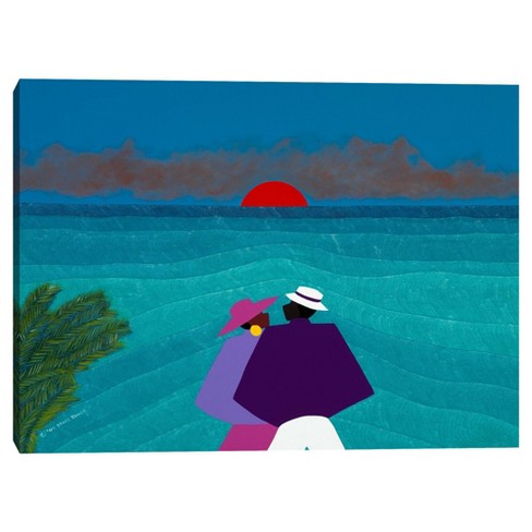 """30"""" x 40"""" A Turks and Caicos Sunset by Synthia Saint James Canvas Art Print - Masterpiece Art Gallery - image 1 of 4"""
