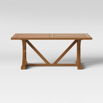 Morie Farmhouse Wood Rectangle Dining Table - Natural - Threshold™