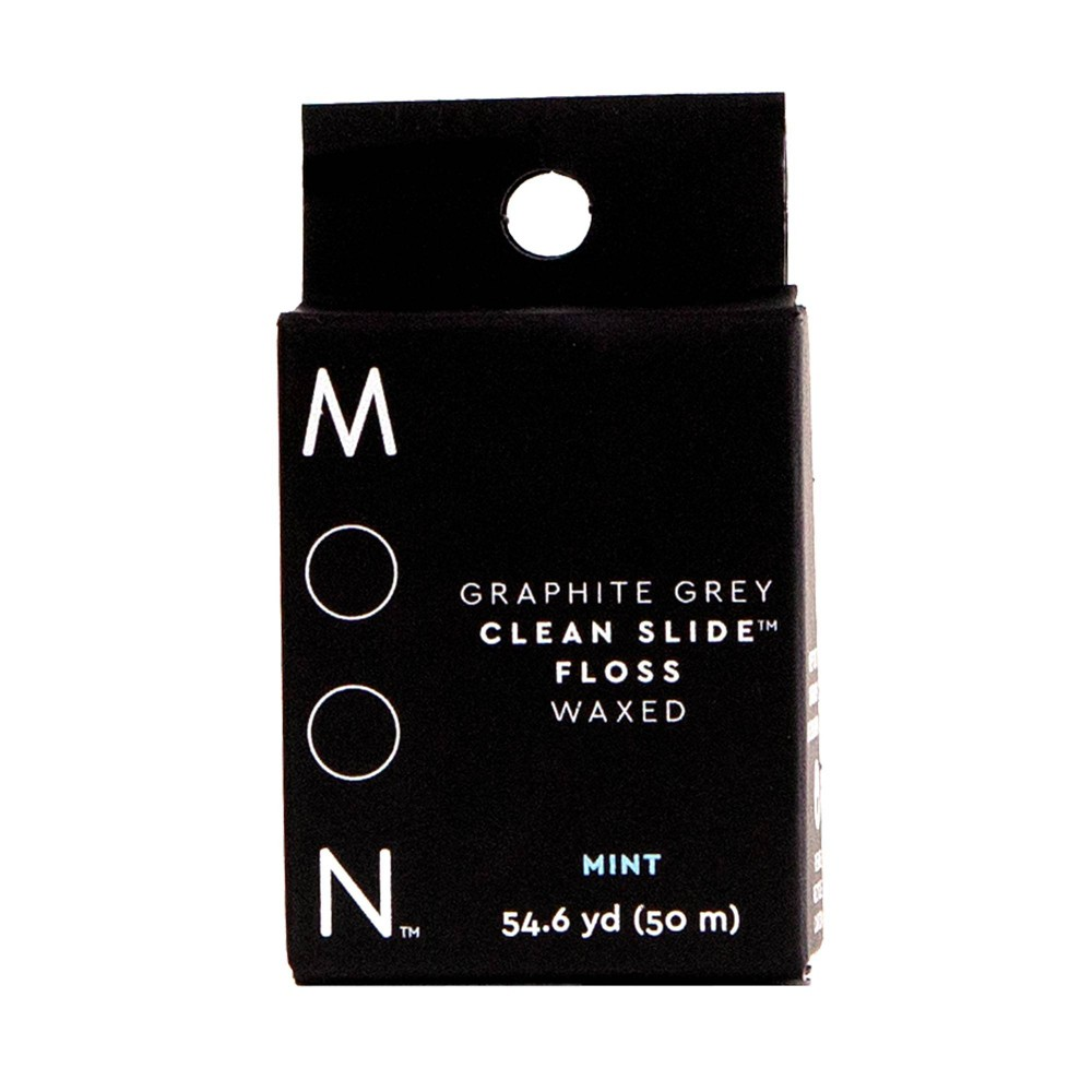 Image of Moon Graphite Grey Clean Slide Floss Mint - 54yd