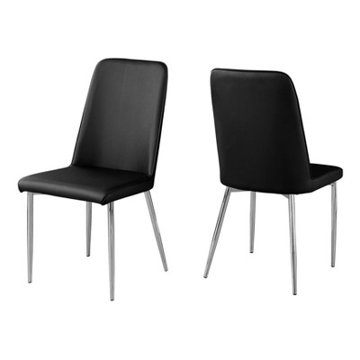 Dining Chair Leather and Chrome - EveryRoom