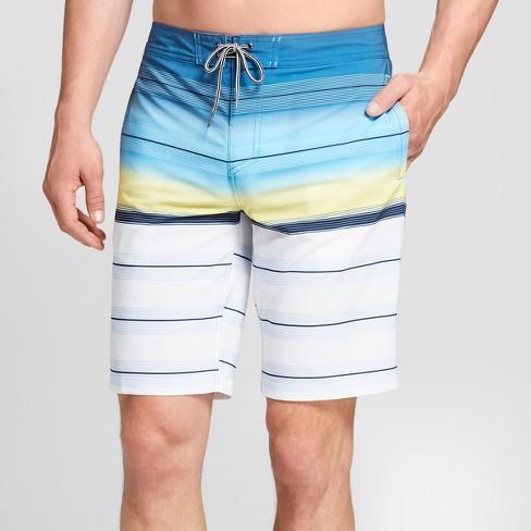 "Men's Striped 10"" Rapido Boardshorts - Goodfellow & Co™ Deep Blue 29 - image 1 of 3"