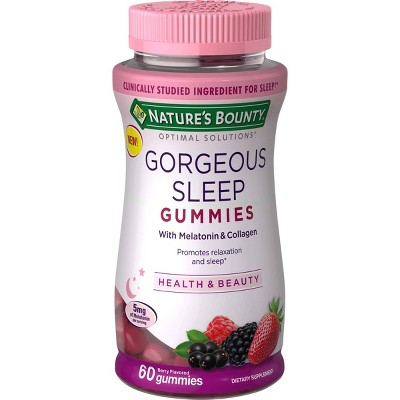 Optimal Solutions Gorgeous Sleep Gummies Berry 60ct Brickseek