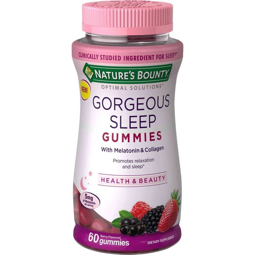 Optimal Solutions Gorgeous Sleep Gummies - Berry - 60ct