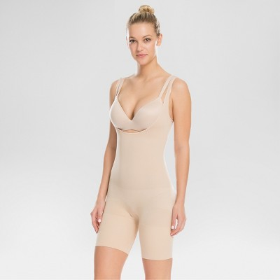 Assets® by Spanx® Women's Remarkable Results All-in-One Body Slimmer - Light Beige M