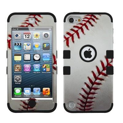 MYBAT For Apple iPod Touch 5th Gen/6th Gen White Baseball Tuff Hard Hybrid Case Cover