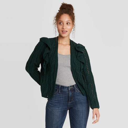 Women's Ruffle Cardigan - Universal Thread™ - image 1 of 3