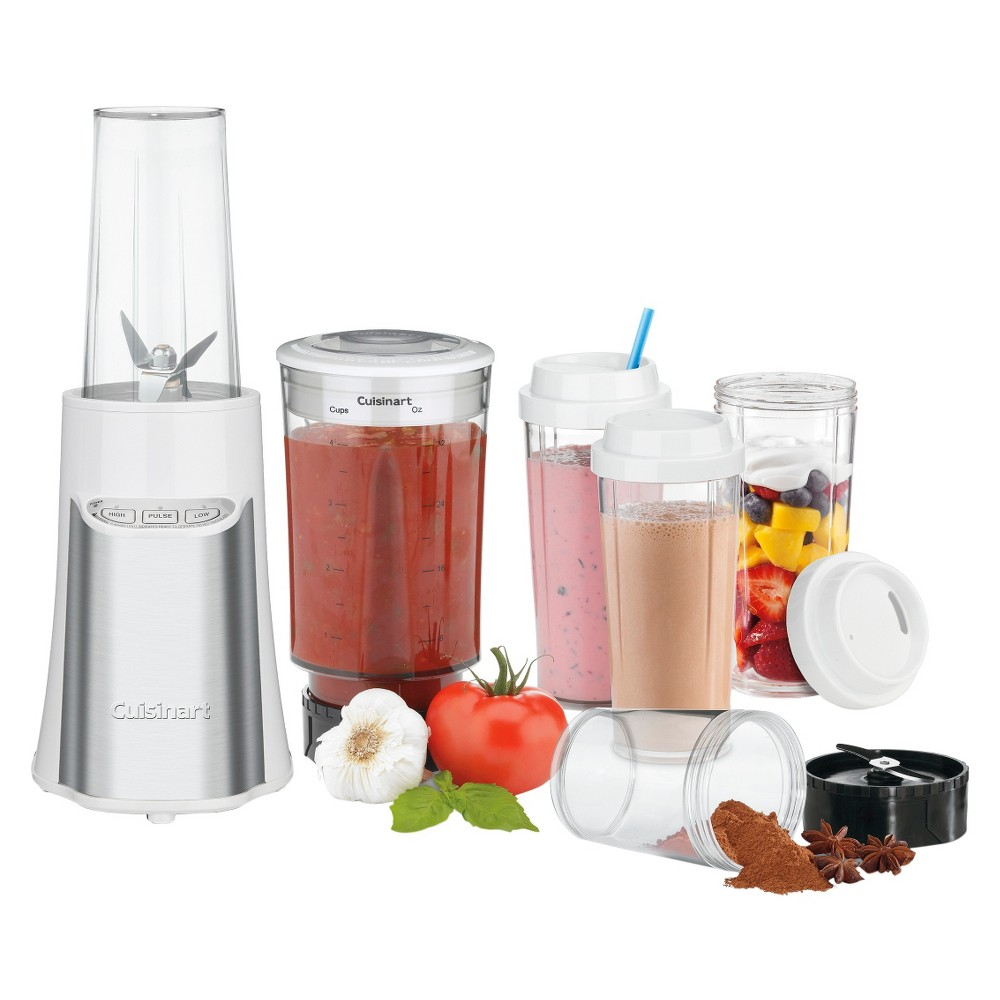 Cuisinart SmartPower Compact Portable Blender & Chopping System - White CPB-300W