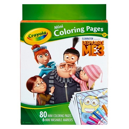 Crayola® Mini Coloring Pages, 80pgs, 6ct Markers - Despicable Me - image 1 of 5