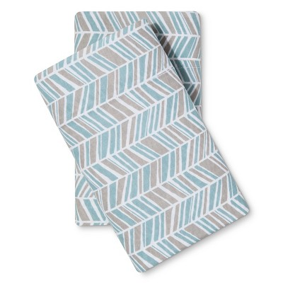 Easy Care Pillowcase (Standard)Turquoise Chevron - Room Essentials™
