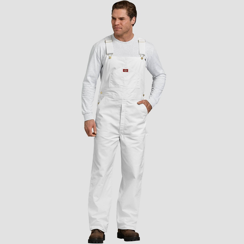 Dickies Men's Straight Overalls - White 38x32