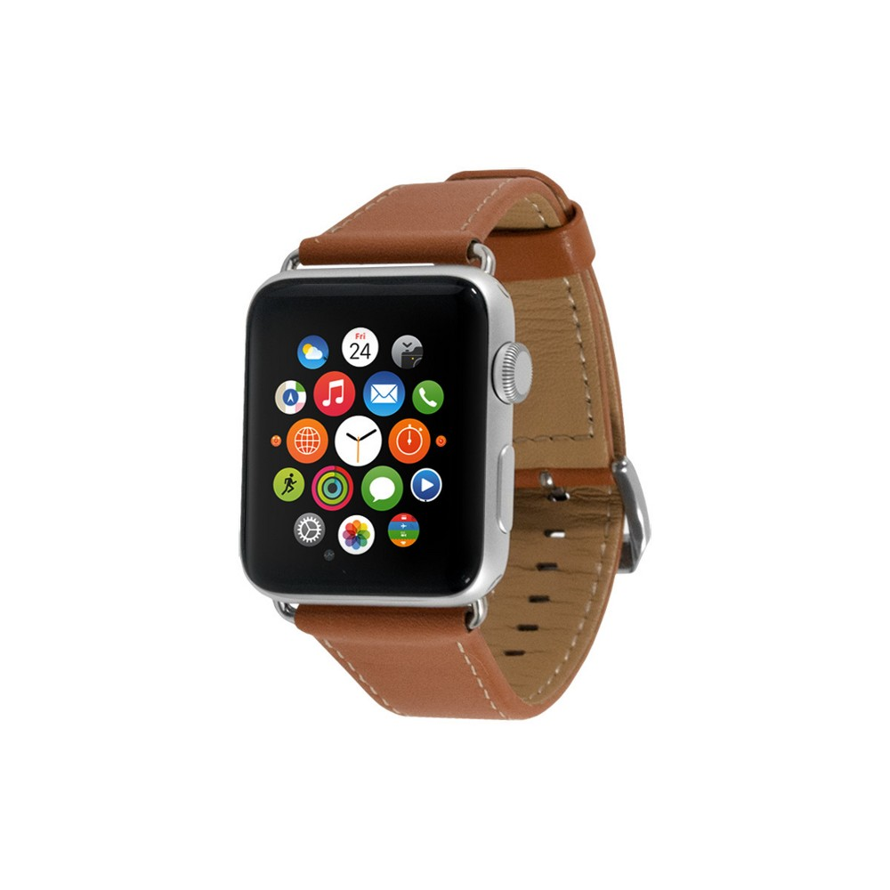 EndScene Apple Watch Band 42mm - Leather Camel, Brown Show off your Apple watch with this Leather Apple Watch Band 42mm from End Scene. This genuine leather band offers great comfort and features a sleek classic design making it perfect for all occasions. It is easy to apply and remove and is compatible with all Apple Watch of 42mm. Color: Brown. Gender: unisex.