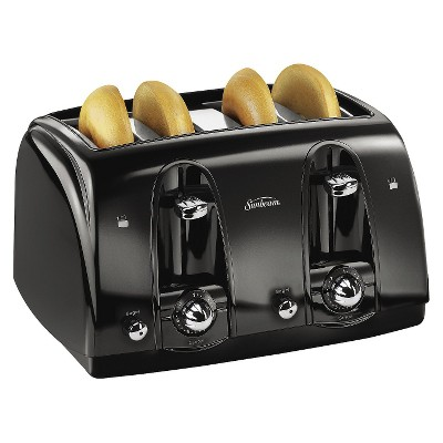 Sunbeam® 4-Slice Extra-Wide Slot Toaster, Black, TSSBTR4SBK