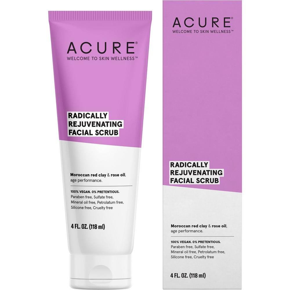 Acure Radically Rejuvenating Facial Scrub - 4 fl oz, Pink