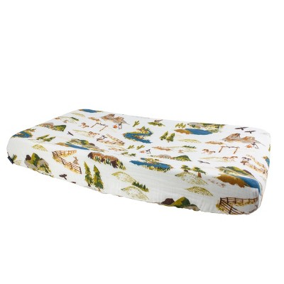 Bebe au Lait Muslin Changing Pad Cover Wyoming