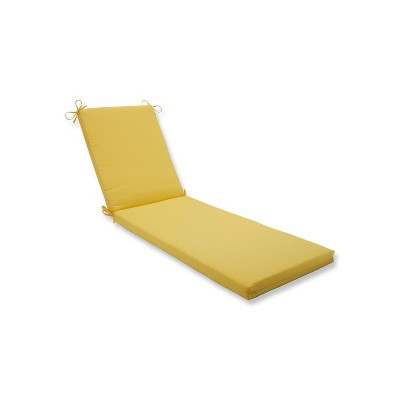 Indoor/Outdoor Fresco Solids Yellow Chaise Lounge Cushion - Pillow Perfect