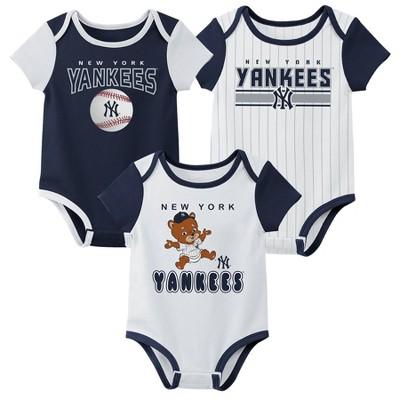 MLB New York Yankees Baby Boys' 3pk Bodysuit Set