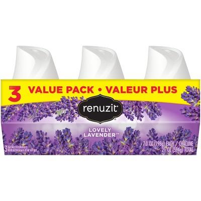 Renuzit Gel Air Freshener - Lovely Lavender - 7oz/3ct