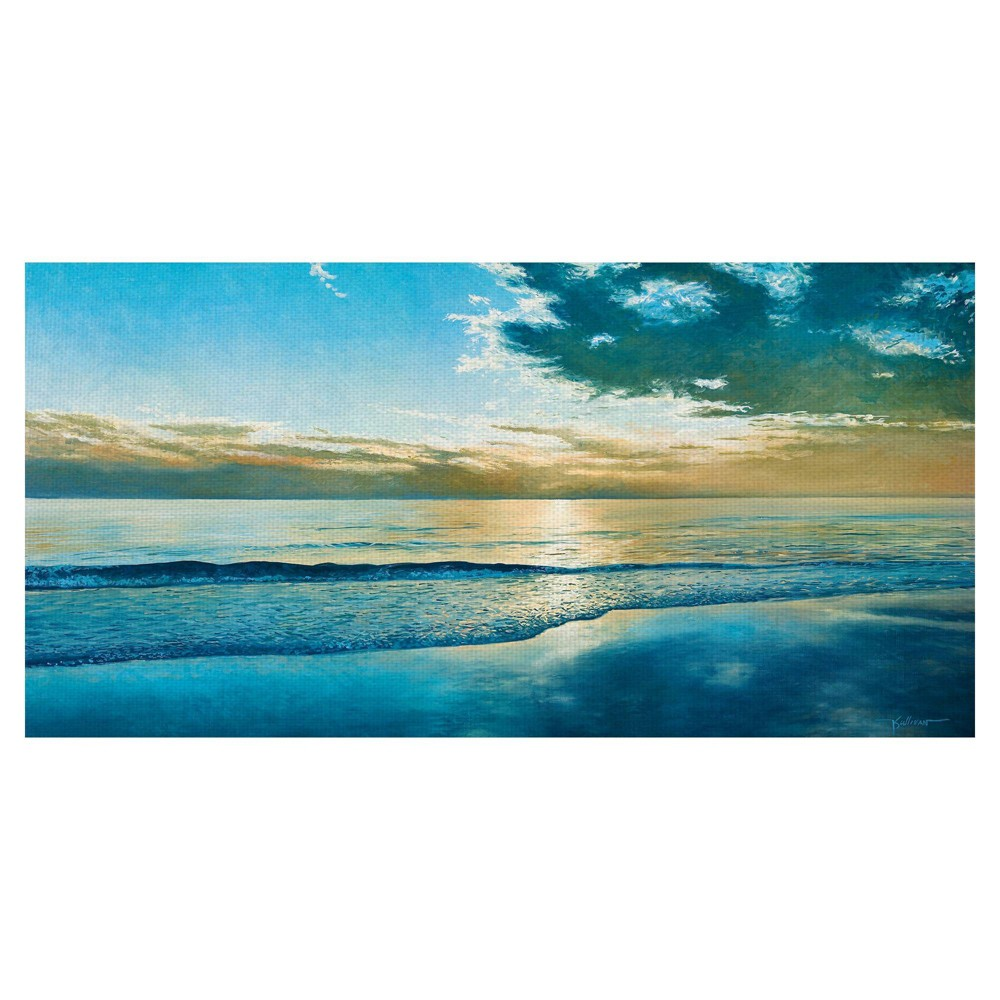 "Image of ""17"""" x 34"""" Island Dawn by Kent Sullivan Art on Canvas - Fine Art Canvas"""