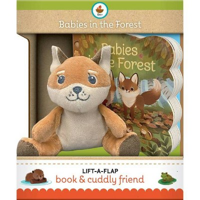 Babies in the Forest Gift Set - (Children's Interactive Lift-A-Flap Board Book and Cuddly Plush Toy Friend)by Ginger Swift (Board Book)