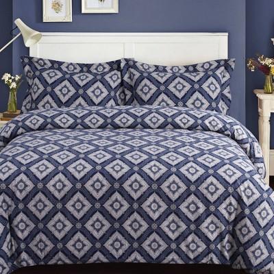 Damask Cotton Flannel Printed Oversized Duvet Set - Tribeca Living
