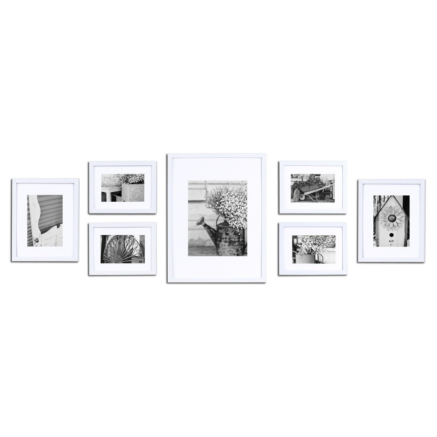 Gallery Solutions 7 Piece Wall Frame Set - image 1 of 7