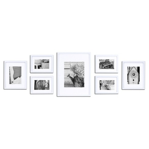 Gallery Solutions 7 Piece Wall Frame Set